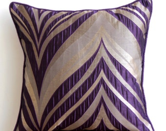 Decorative Pillow Sham Covers Couch Pillows Sofa Bed Pillow Toss Pillow Pillow Sham Case 24x24 Pillow Sham Cover Purple Waves Home Decor