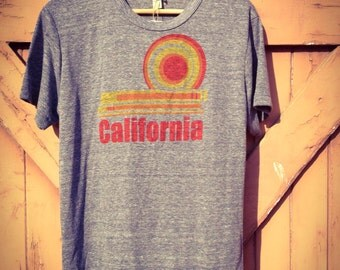 California Dream Tee - Organic Cotton Blend in Navy Heather