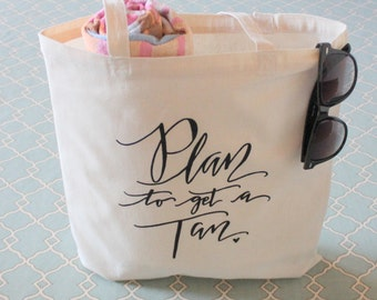 Bachelorette Vacation Beach Bag - Beach Retreat Wedding Welcome Bag Handwritten Tote