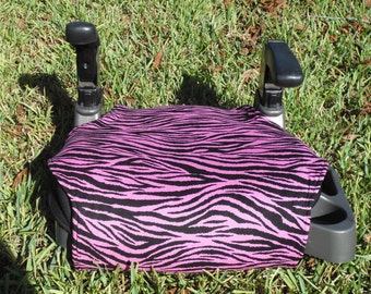 Zebra (pink/black)  toddler booster seat cover--booster seat not included