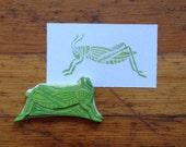 Hand Carved Grasshopper Stamp