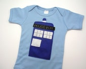 Tardis Dr Who Onesie 12-18 Months in Blue