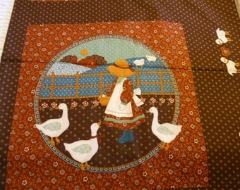 Quilting Fabric with Girl & Geese 5 yards