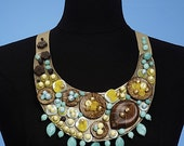 DIY stylish fashionable bespoke jewelry necklace, bracelet, pin brooch McCalls 6048 pattern and tutorial,