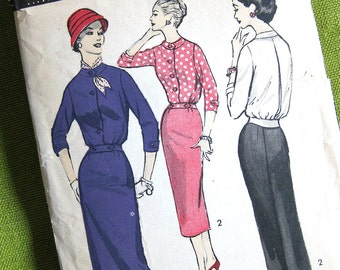 Vintage Sewing Pattern - Skirt and Cropped Jacket - Two Piece Dress - Advance 8181 / Size 16