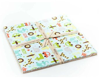 "Oh Boy 10 Inch Stacker 10"" Fabric Squares Bundle - Riley Blake"