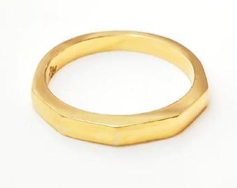 Pentagon Ring Gold 18K (yellow, rose or white)