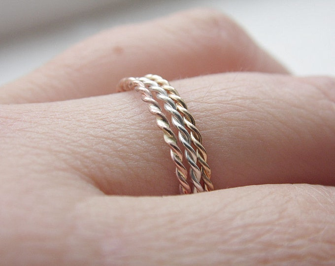 Twist Rings Stacking Set Three Ring Set