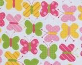 Girl's Plush Hooded Kid's Towel- Spring Butterflies Urban Zoo-- YOU PICK Towel Color