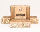 Cinnamon Oatmeal Soap Bar. Natural/ Handmade/ Artisan. Generous 4.5 oz  Vegan Bar. Made with Rainwater & Pure Essential Oils.