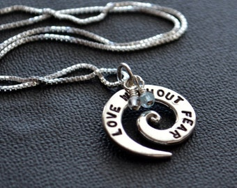 Love Without Fear Spiral Necklace