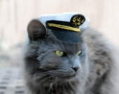 Marine Captain Mini Hat - Cat Captain Hat