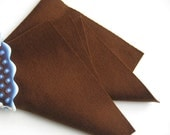 Brown Wool Felt, Pure Merino Wool, Felt Sheet, Choose Size, DIY Craft Supply, Felt Toys,  Wool Applique, Waldorf Handwork, Chocolate Brown
