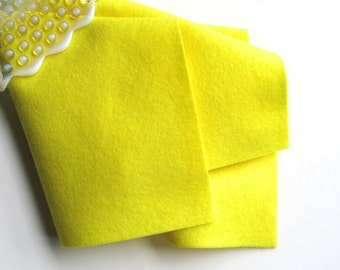 Bright Yellow Felt, Pure Merino Fiber, DIY Craft Supply, 100% Wool, Applique Fabric, Waldorf Handwork, Nonwoven, Toxin Free, Wool Material
