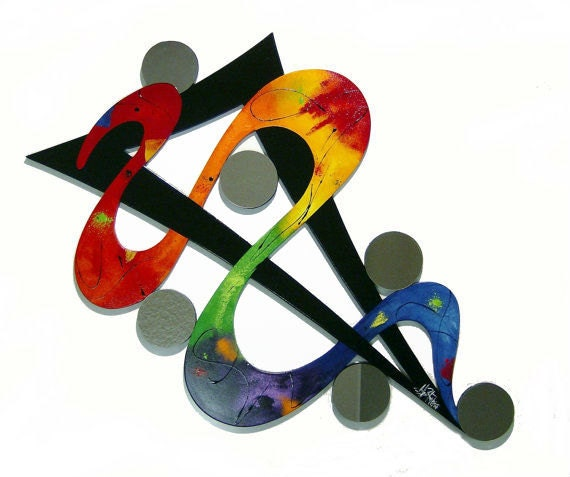 Sale On SALE now!!! reg. 599 -HUGE 58x35 Colorful Rainbow Unique Abstract Wood & Mirror Wall Sculpture by Diva Art69 Studios