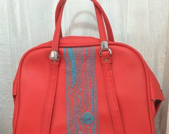 Turquoise tree overnight bag