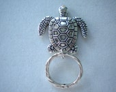 Magnetic or PIn ID Badge Holder or  Reading /Sun Glasses  Holder.  Silver Colour Metal. Extra Magnet Applied. Turtle