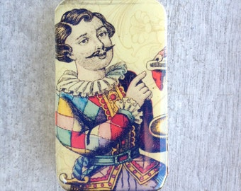 Pill box, Vintage style Joker tin, gift tin