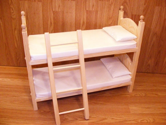 Items similar to Stackable Doll Bunk Bed Mattresses