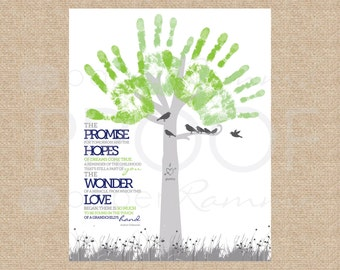 Instant Download Mothers Day Gift, DIY Grandma Gift, Last minute Mothers Day DIY gift, handprint gift for grandmother, 8x10 // H-E04-1PS ZZ6