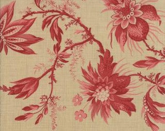 French General Fabric Josephine in Oyster Rouge 1/2 yard