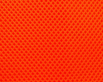 "60"" Wide Padded Mesh Fabric FLAMING ORANGE Auto Upholstery Bags Shoes Backpacks Straps Crafts Spacer"