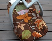 Baby Car Seat Cover for Cold Weather - Leaves in Lovely Earth Tones