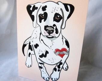 Custom Dalmatian Tattoo Greeting Card