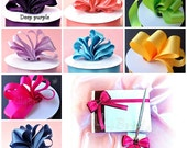 Weddings Guest Book and pen set Custom Colors, Lapis, Watermelon Coral Reef,