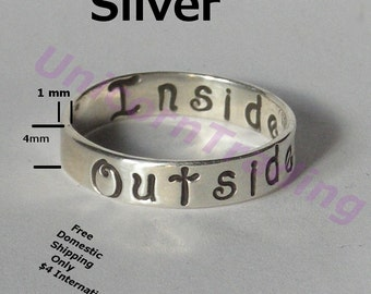 Silver Boutique Ring, 4X1mm  any size  Personalized