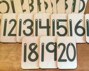 Birch Sandpaper Numbers 0-20