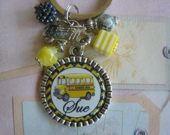 School Bus Driver Keychain, end of year gifts