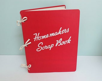 1946 Homemakers Scrap Book Tabbed Organizer with Tips & Space for Preserving Favorite Recipes