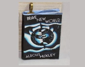 Brave New World - Mini-Book Pendant - Aldous Huxley - Book Jewelry - Brave New World Necklace - *Science Fiction* - Brave New World Necklace