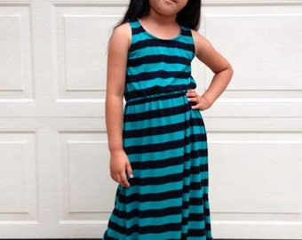Girls California Dresses and Peplum Top (NB-18) Downloadable .PDF Sewing Pattern & E-Book