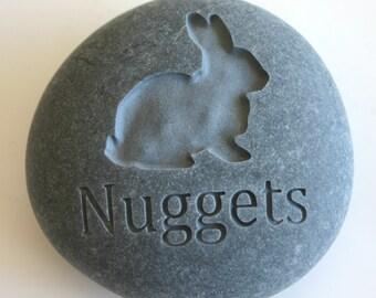 Bunny Rabbit Custom Engraved Pet Memorial Stone Rabbit Pet Loss
