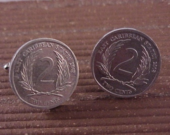 East Caribbean States Coin Cuff Links
