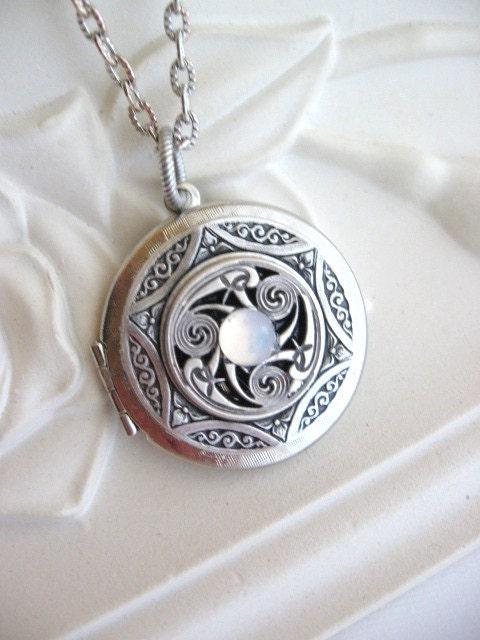 Triskele Pendant Triskelion Personalized Birthstone