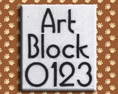 Art Block Embroidery Font Includes 5 Sizes