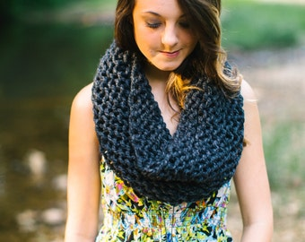 Pick Your Color Circular Cowl // Made to Order Personalized Infinity Scarf // Grey Circle Cowl