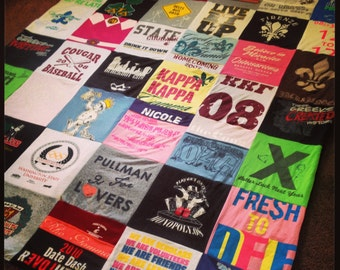 Custom made to order Tshirt Memory Blanket