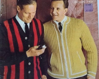 Vintage Knitting: Columbia Minerva - Fashions for Men and Boys. Book 749