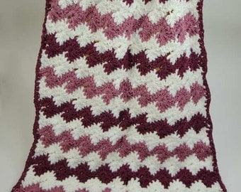 Catherine Wheel Afghan Crochet Pattern - PDF