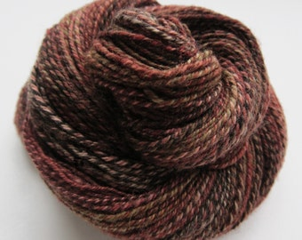 ON SALE! -  258 yds, dk weight, handspun yarn, 'Mercury Rising', 3 ply, super wash BFL
