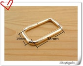 1.5 inch ( 38mm) Heavy duty Gold strap metal  rectangle ring Strap connector Purse ring  10 pieces U97