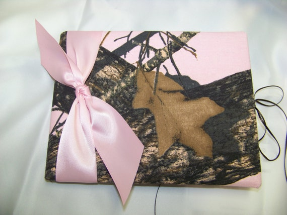 Pink Mossy Oak guest book Camouflage hunter Mossy oak Realtree AP, Max 4  you choose bow color