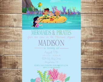 Mermaids and Pirates Invitation