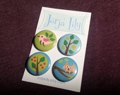 Set of 4 pinback buttons