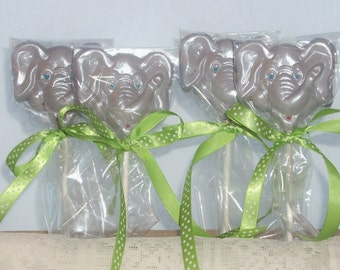 10 Chocolate Elephant Lollipops