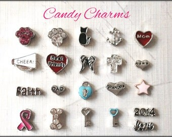 Choose (3) Charms...Floating Charm for Locket of Memories TM, Living Locket, Memory Locket, Floating Glass Locket,